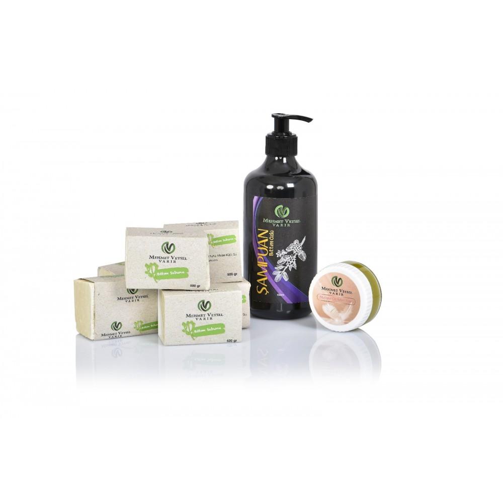 1000 Gr Bıttım Sabunu + 400 ML Bıttım Şampuanı + 50 ML Cilt Bakım Kremi