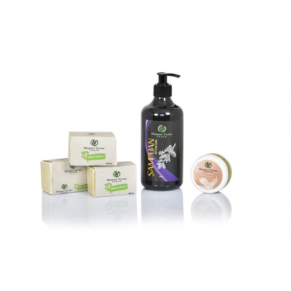 3 Kalıp Bıttım Sabunu + 400 ML Bıttım Özlü Şampuan + 50 ML Cilt Bakım Kremi
