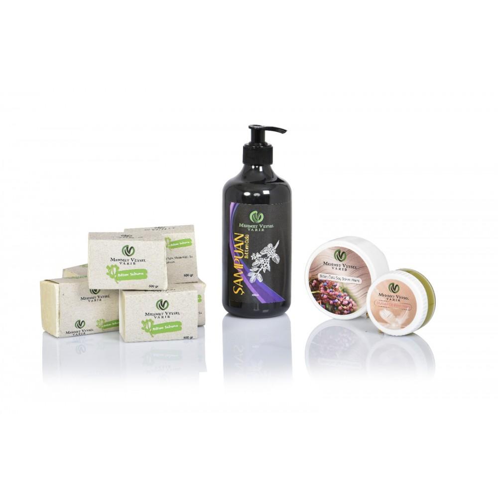1000 GR Bıttım Sabunu + 400 ML Bıttım Şampuan + 50 ML Cilt Bakım Kremi + 200 ML Saç Bakım Kremi