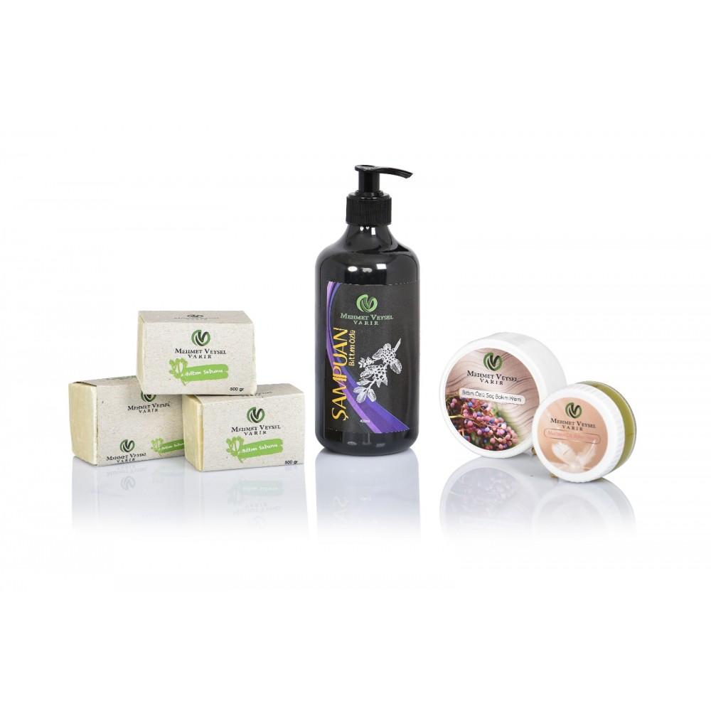 500 GR Bıttım Sabunu + 400 ML Bıttım Şampuanı + 50 ML Cilt Bakım Kremi + 200 ML Saç Bakım Kremi
